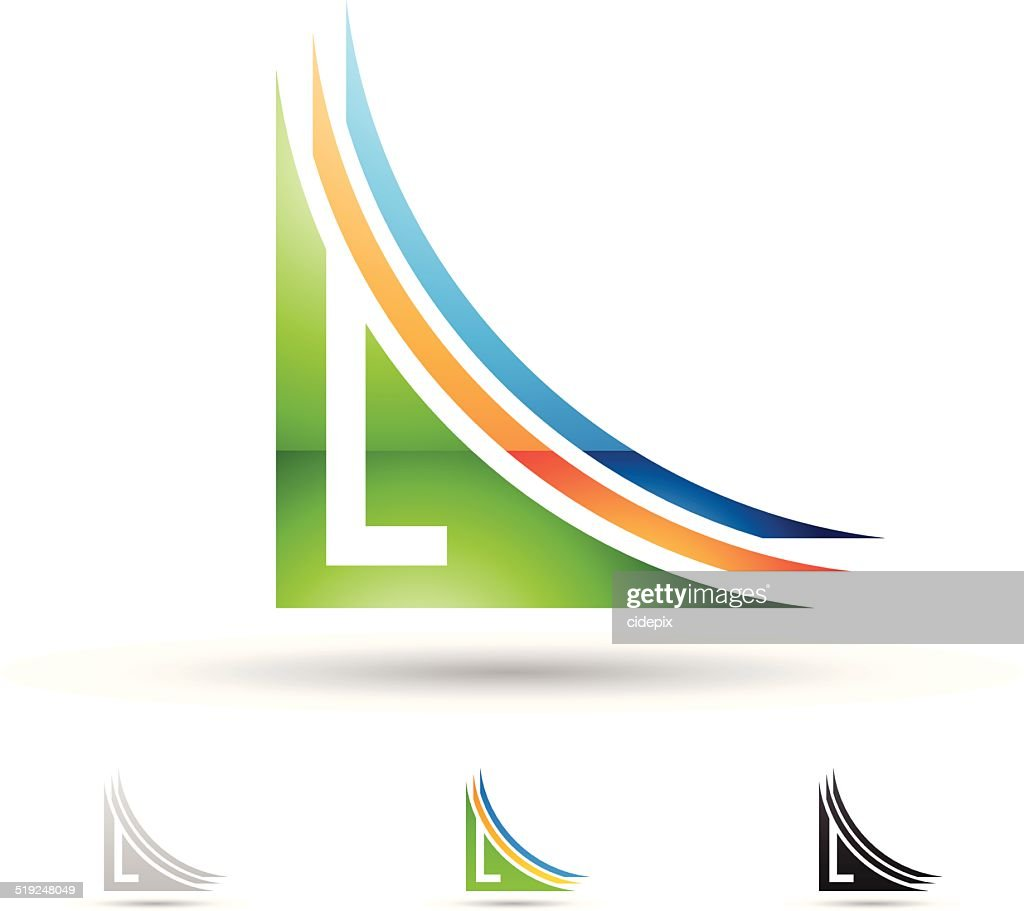 Abstract icon for letter L