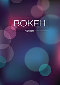 Abstract illustration - blurred Lights with bokeh effect