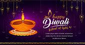 Abstract Illustration of Diwali festival.