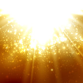 abstract illustration of light rays on the deep amber background