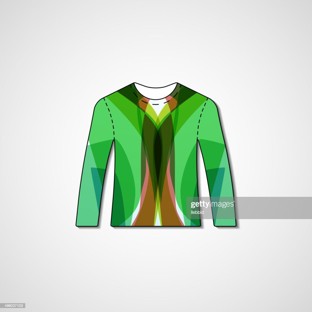 97e90128e Abstract Illustration On Sweater stock vector - Getty Images