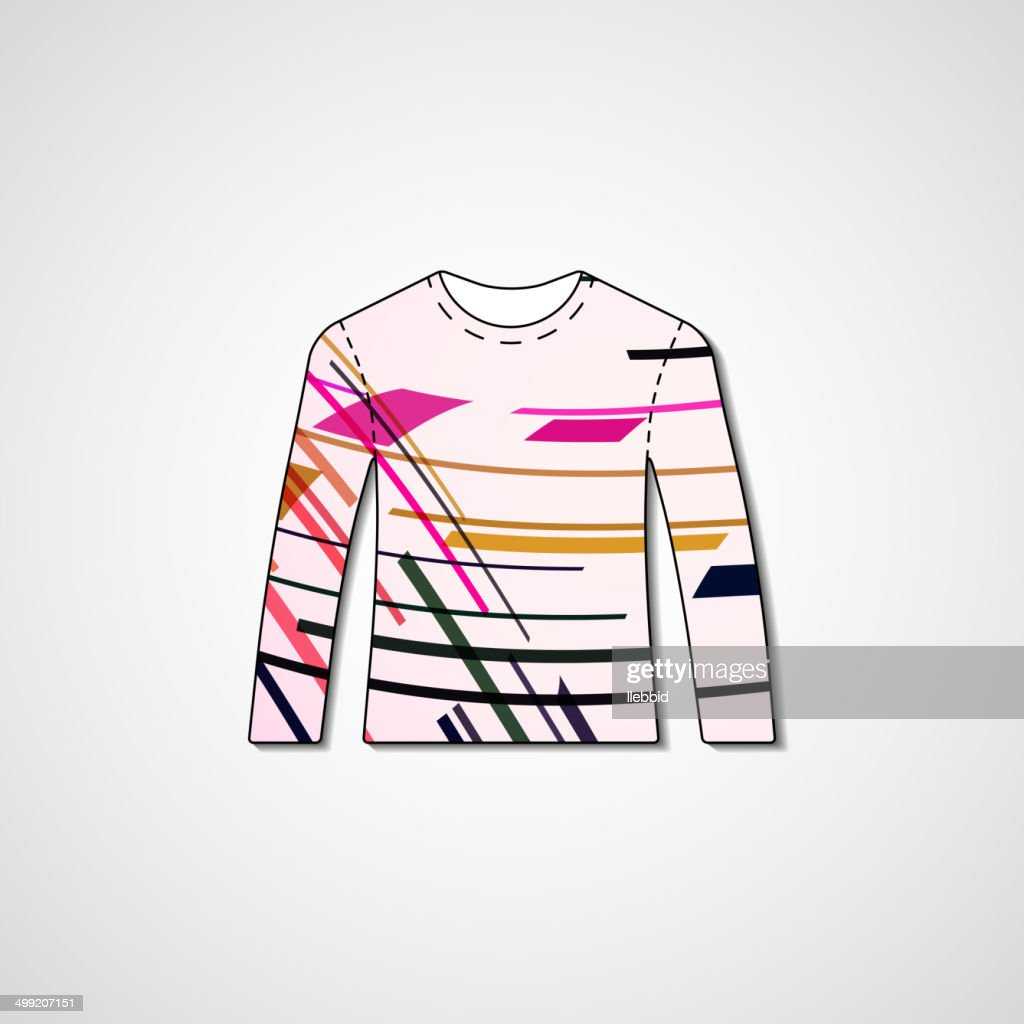 94d12fd0c Abstract illustration on sweater   stock vector