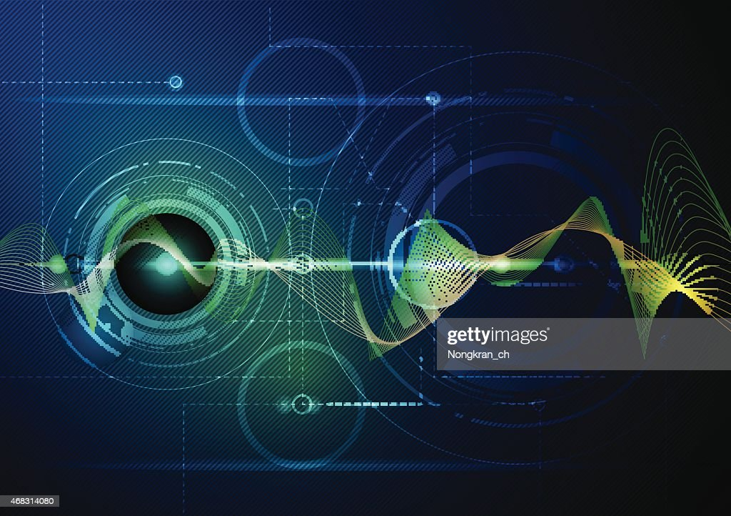 Abstract image of digital wave technology