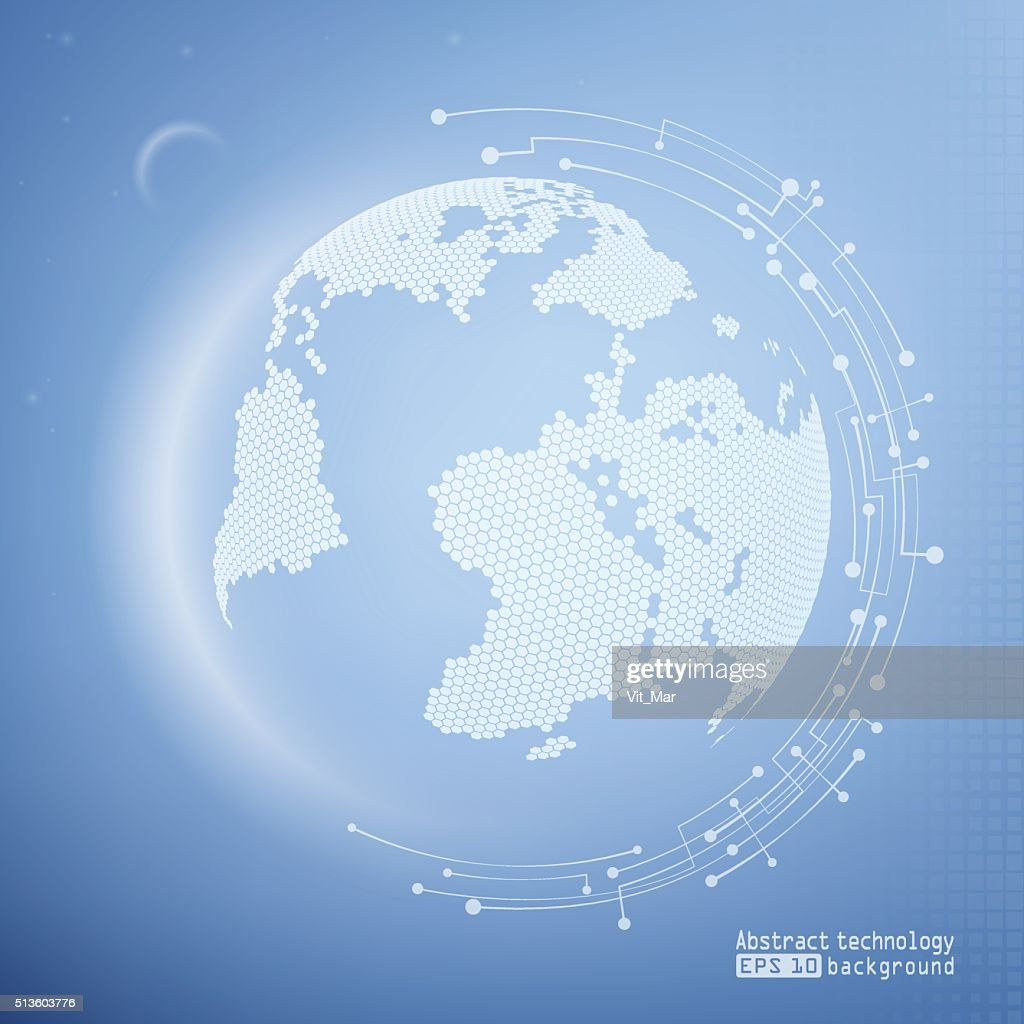 Abstract image of the Earth. Technology background.