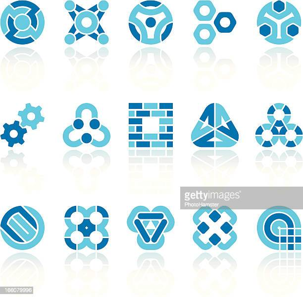 abstract industry symbols