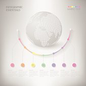 Abstract Infographic design on the grey background
