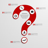 Abstract infographic in the form of question mark. Design elements.