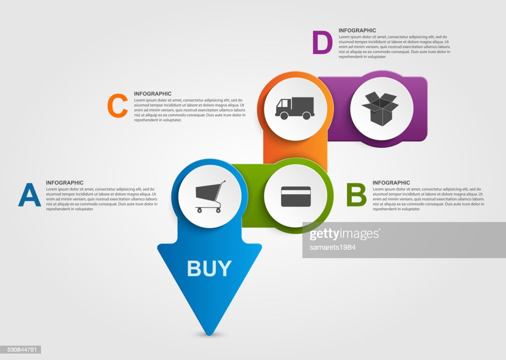 Abstract infographic. Store payment plan. Design elements.