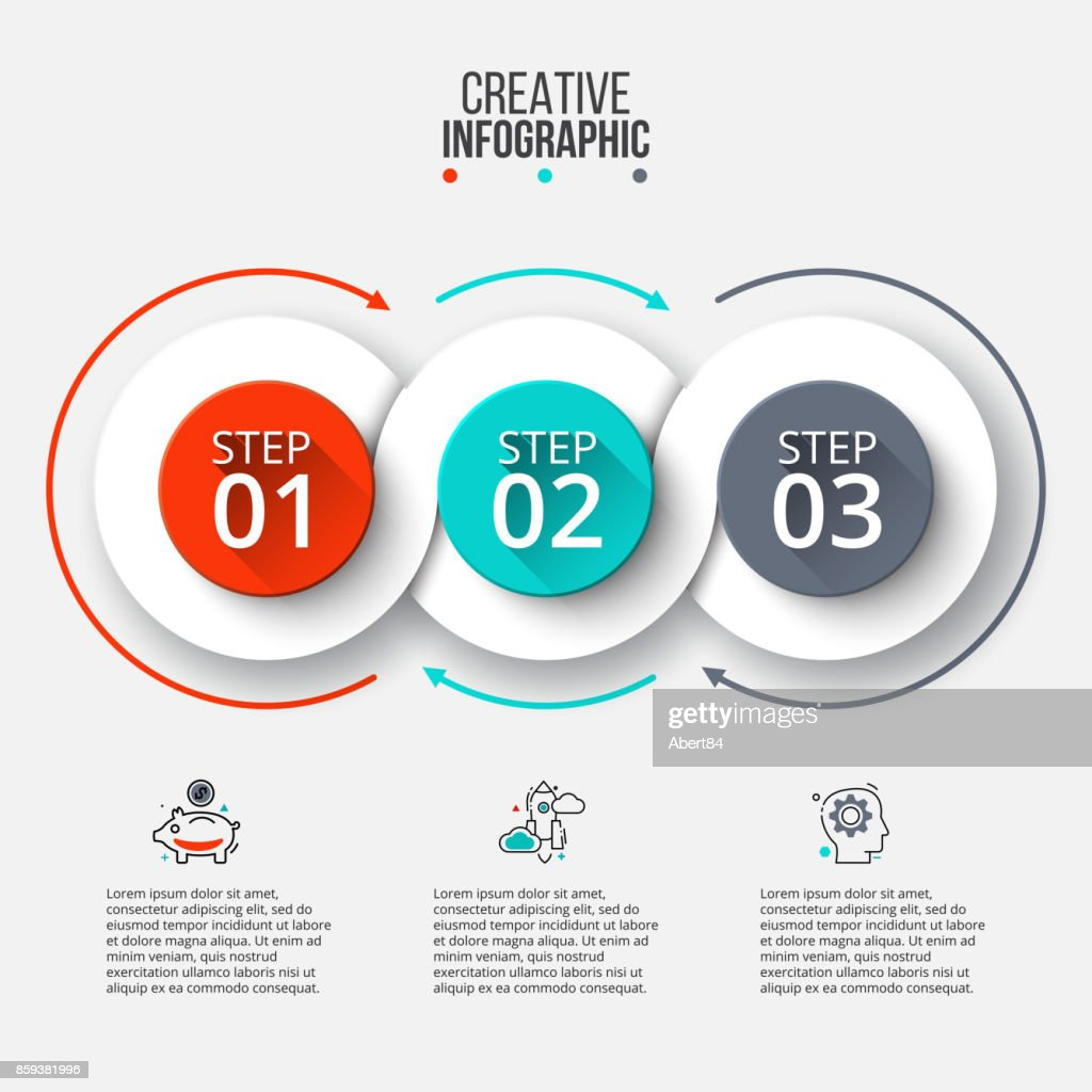 Abstrakte Infografiken Template Anzahl Optionen Vektorgrafik | Getty ...