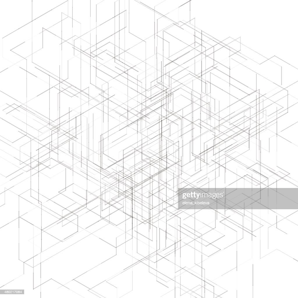 Abstract isometric computer generated 3d blueprint visualization abstract isometric computer generated 3d blueprint visualization lines background vector vector art malvernweather Images