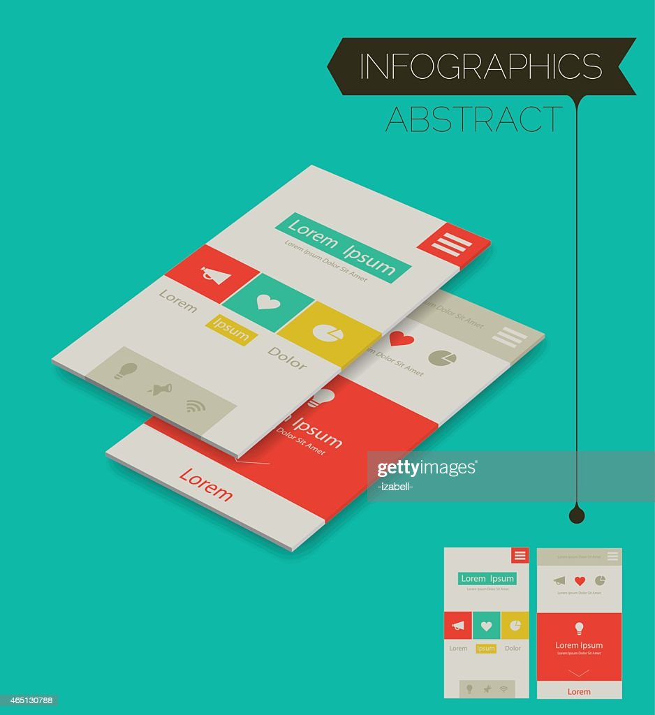 Abstract Isometric UI Concept