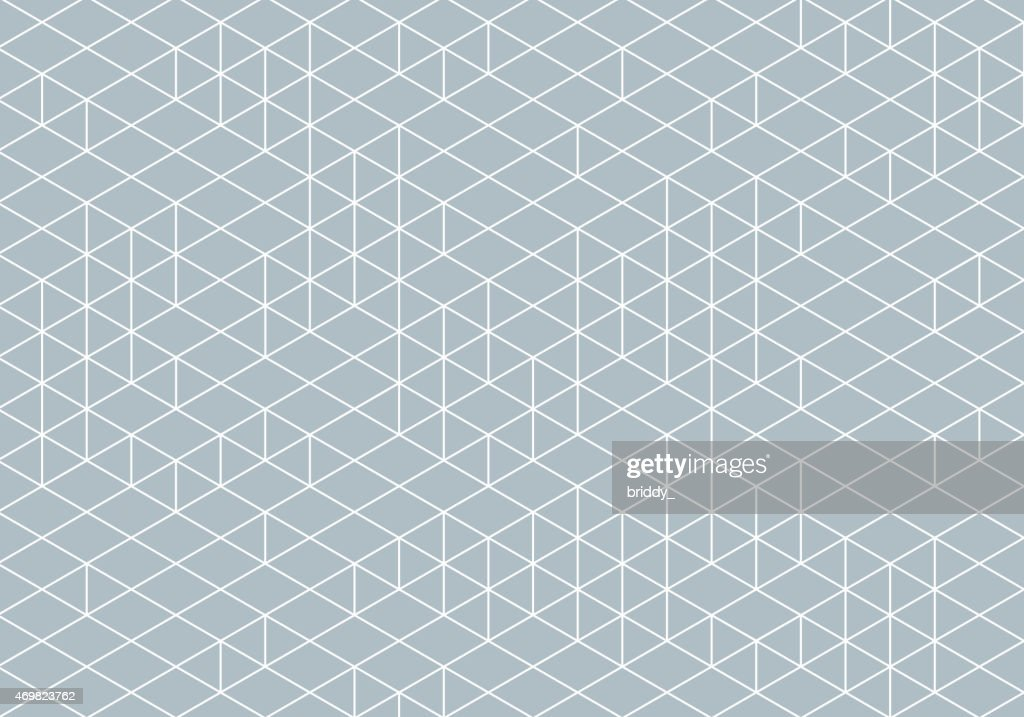 Abstract Isometry Wireframe Drawing