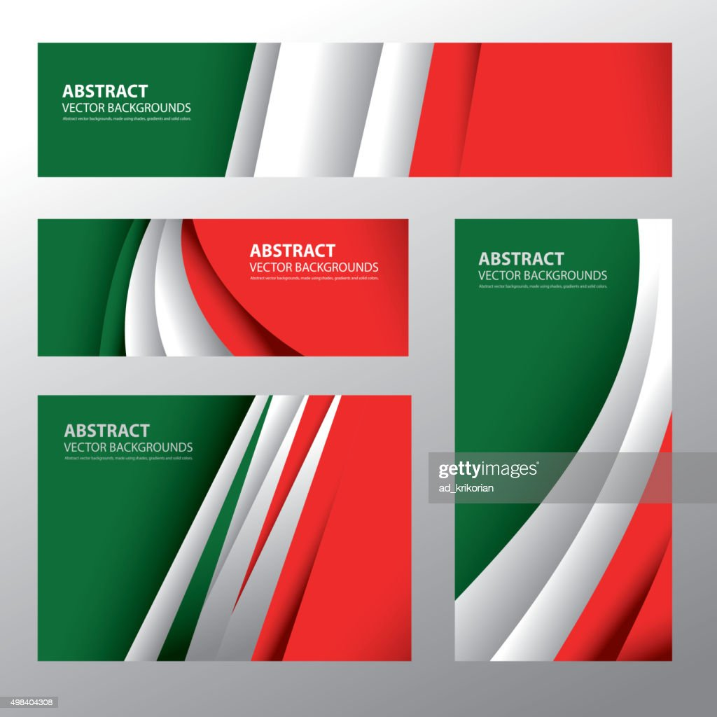 Abstract Italy Flag, Italian Colors (Vector Art)