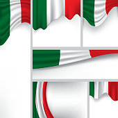 Abstract Italy Flag, Italian Vector Flag Banner (Vector Art)
