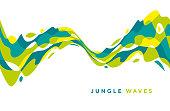 Abstract jungle geometric design element.