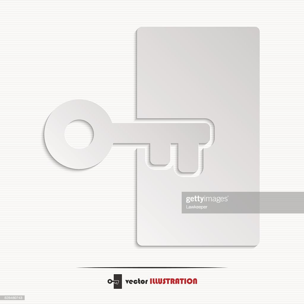 Abstract key web icon
