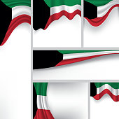 Abstract Kuwait Flag, Kuwaiti Colors (Vector Art)