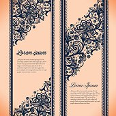 Abstract Lace Ribbon Vertical banners