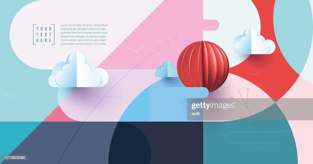 抽象的な風景の背景 : ストックイラストレーション