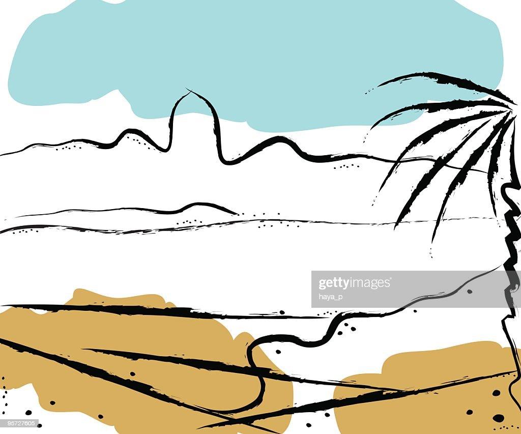 Abstract Landscape of Desert