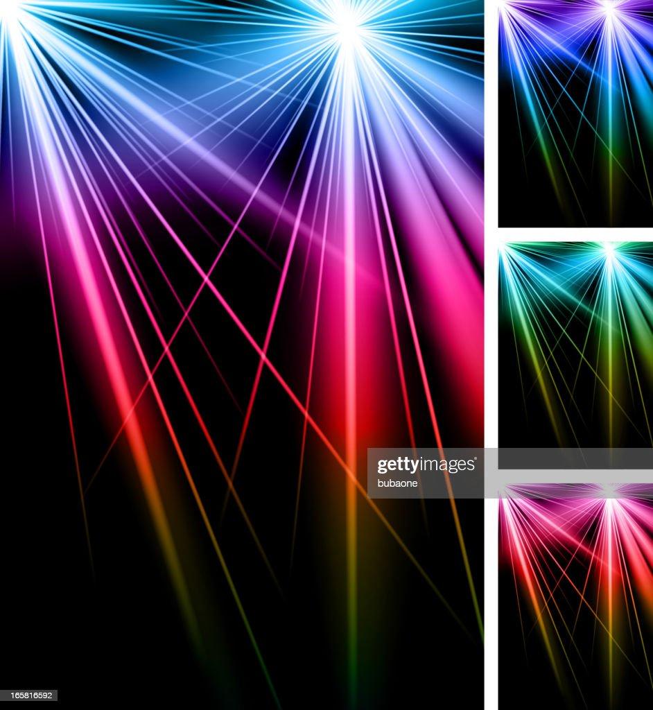 Abstract Laser Strobe Lights Background Vector Art