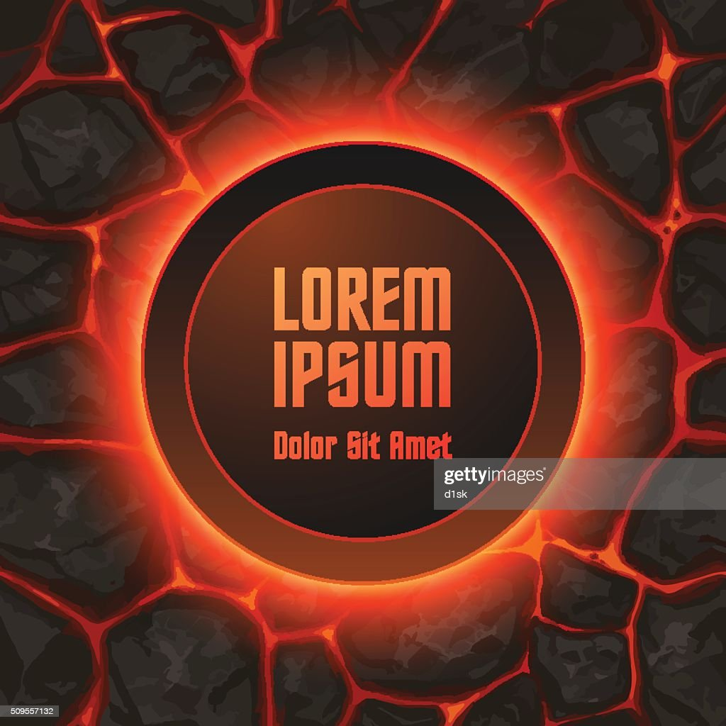 Abstract lava background template