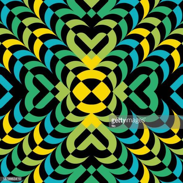 illustrazioni stock, clip art, cartoni animati e icone di tendenza di abstract layered kaleidoscope pattern background - frattale