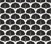 Abstract Leaves Decorative Tile. Geometric Ginkgo Seamless Pattern. Floral background.