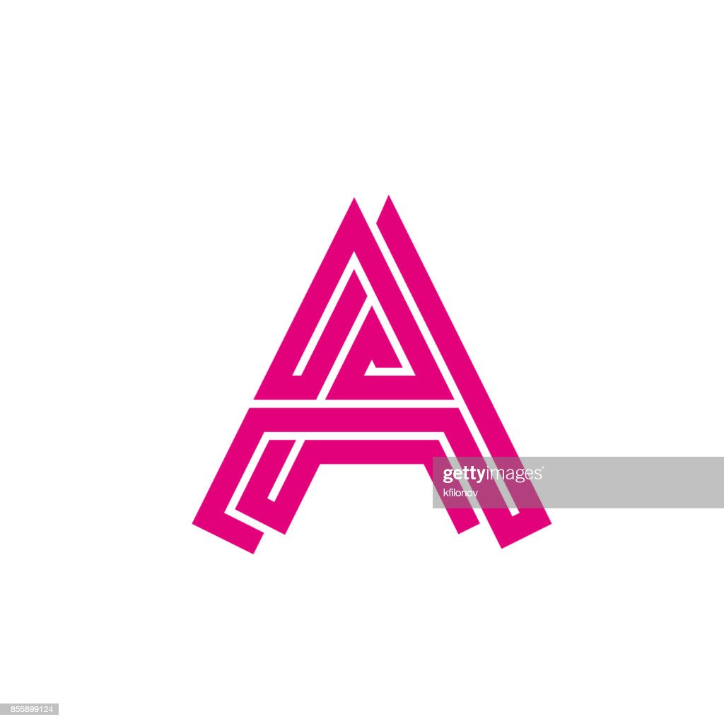 abstract letter a labyrinth creative sign for the corporate identity