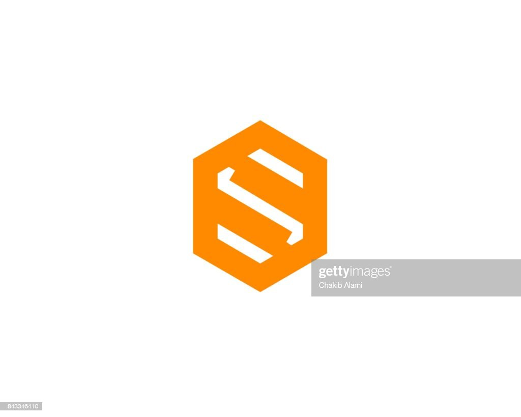 Abstract letter S icon alphabet symbol.