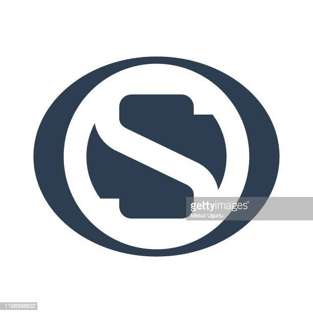 abstract letter s logotype - letter s stock illustrations, clip art, cartoons, & icons