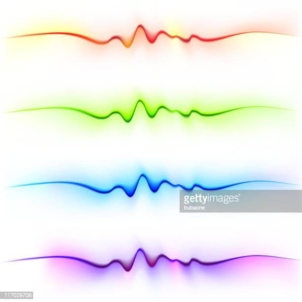 Abstrakte hellen Farbe Wellen auf weißem Hintergrund