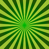 Abstract light green sun rays background. Vector