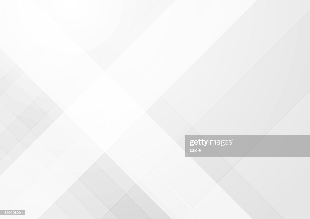 Abstract light grey tech geometric background