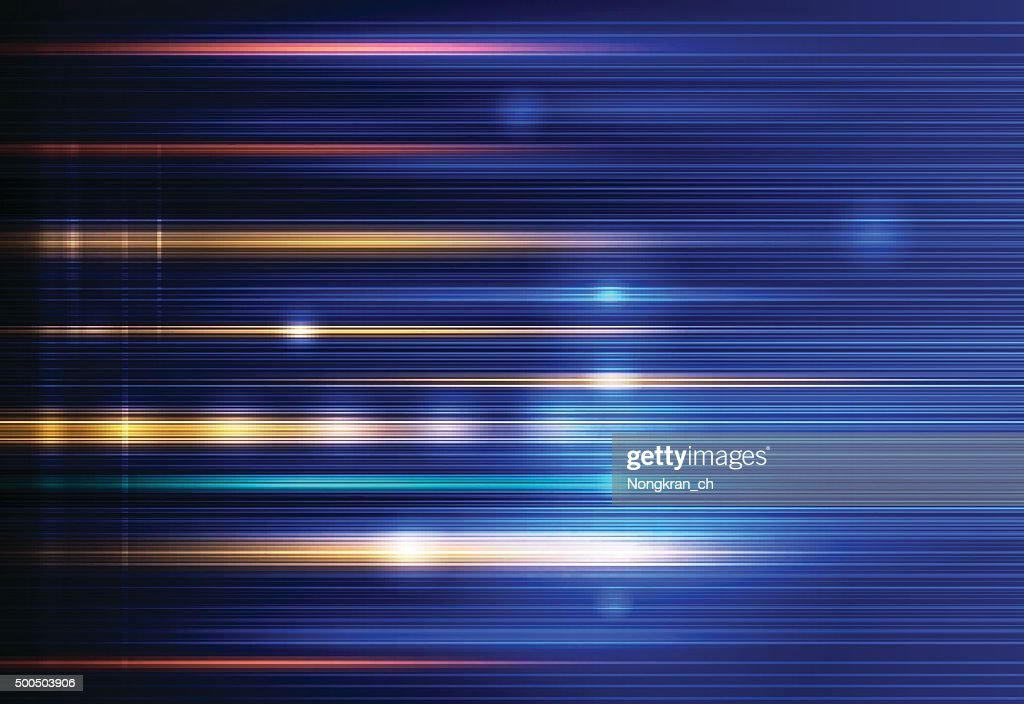 Abstract light rays, speed and motion blur. Energy technology concept