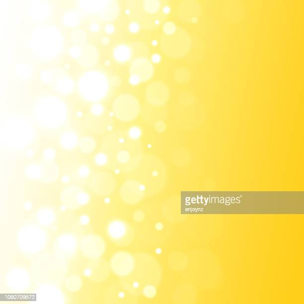 abstract lights background - yellow background stock illustrations