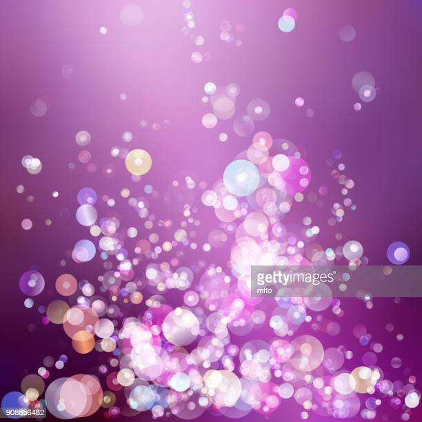 abstract lights - purple background stock illustrations, clip art, cartoons, & icons