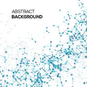 Abstract line background with circles