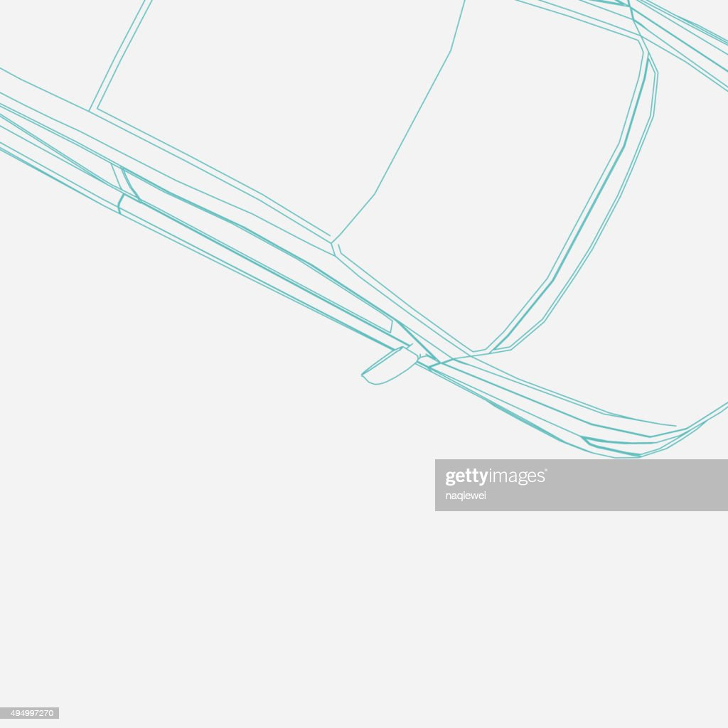 abstract line car pattern