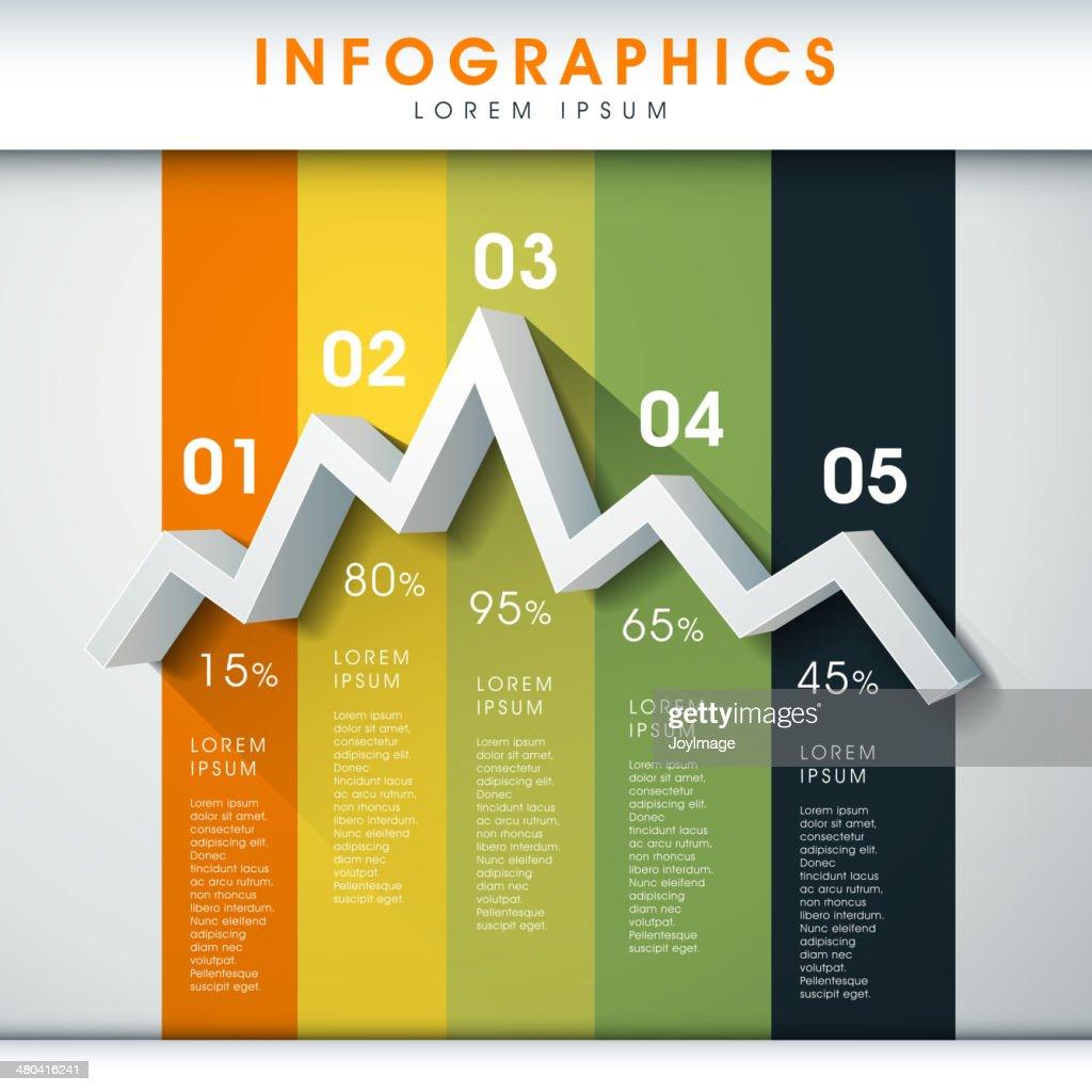 abstract line chart infographics