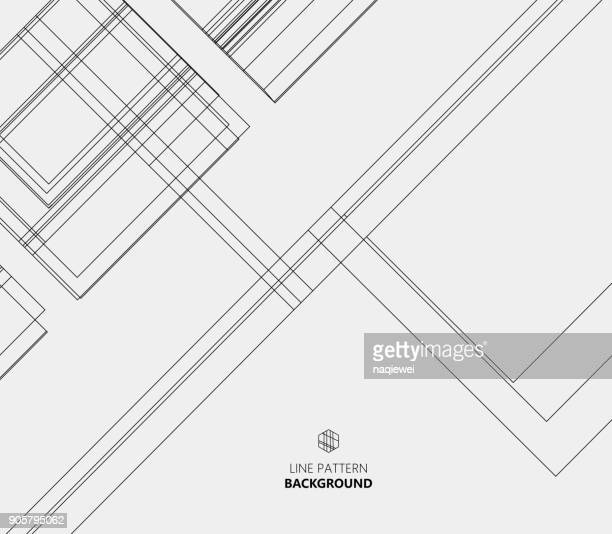 abstract line pattern background - blueprint stock illustrations