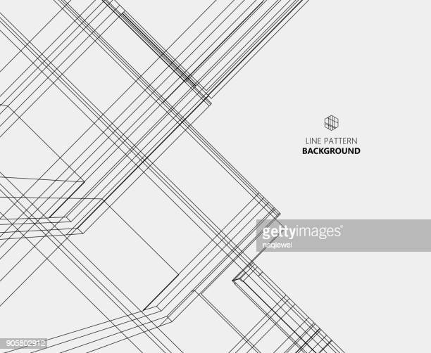 abstract line pattern background - architecture stock illustrations