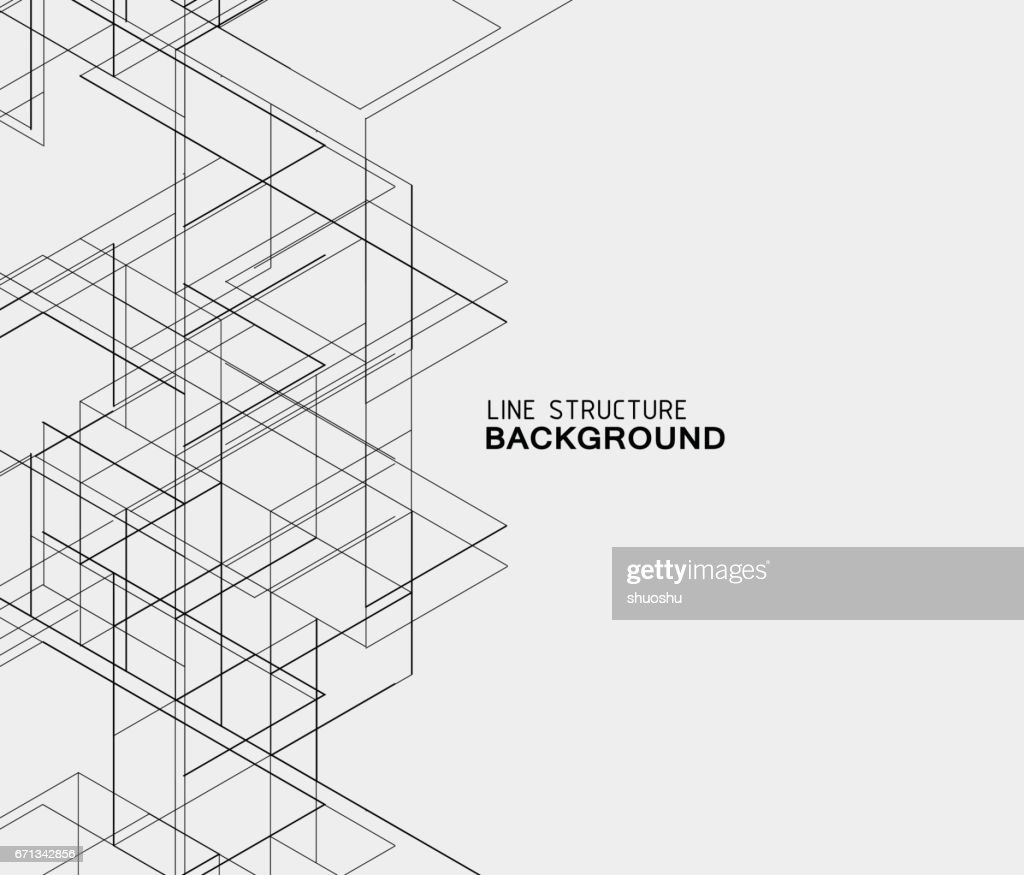 abstract line structure background