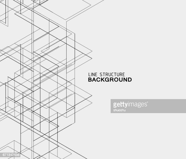 abstract line structure background - architecture stock illustrations, clip art, cartoons, & icons