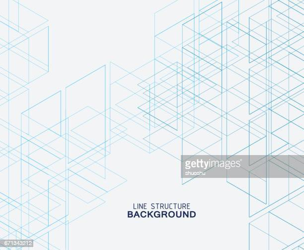 abstract line structure background - blueprint stock illustrations