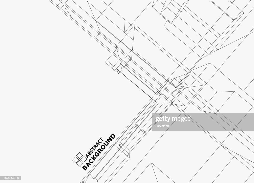 abstract line structure pattern background