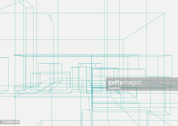 abstract line structure pattern