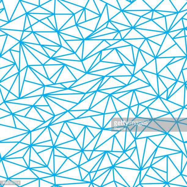 Abstracte lineaire veelhoeken naadloze patroon