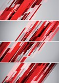 Abstract lines banners