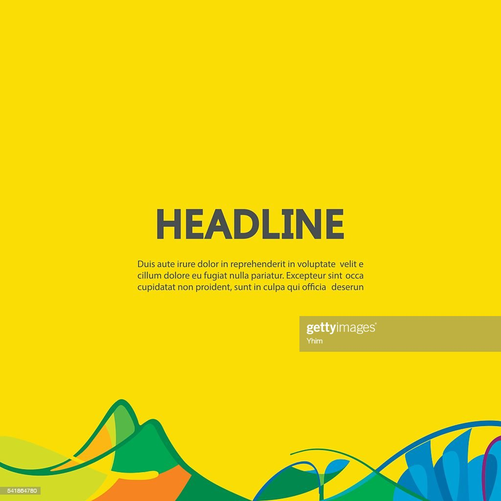 Abstract lines on a yellow background.
